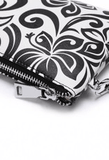 Happy Wahine Melody Hibiscus Black Wristlet - Leilanis Attic