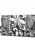 Happy Wahine Tapa Tiare Black and White Clutch - Leilanis Attic