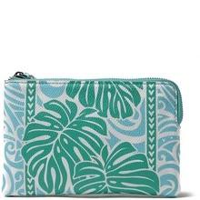 Happy Wahine Judy Monstera Blue Wallet