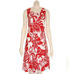 "Hilo Hattie Womens ""Hanalei"" Short Dress (Red/White)"