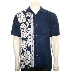 "Hattie Mens ""Prince Kuhio"" Aloha Shirt (Navy/White)"
