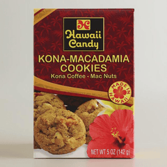 Hawaii Candy Kona Coffee Macadamia Nut Cookies, 5 oz.
