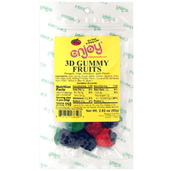 Enjoy 3D Gummy Fruits 3oz