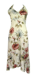 Jade Fashion Likelike Seasonal Cream Hibiscus Halter Top Dress
