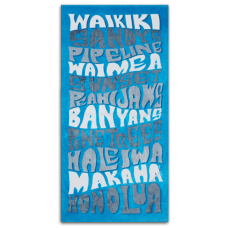 Funky Blues Hawaii Towel