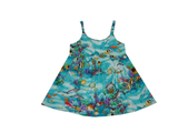 KY's Green Tropical Reef Girls Aloha Dress - Leilanis Attic