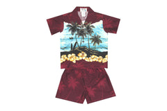 KY's Red Palm and Island Boys Cabana Set