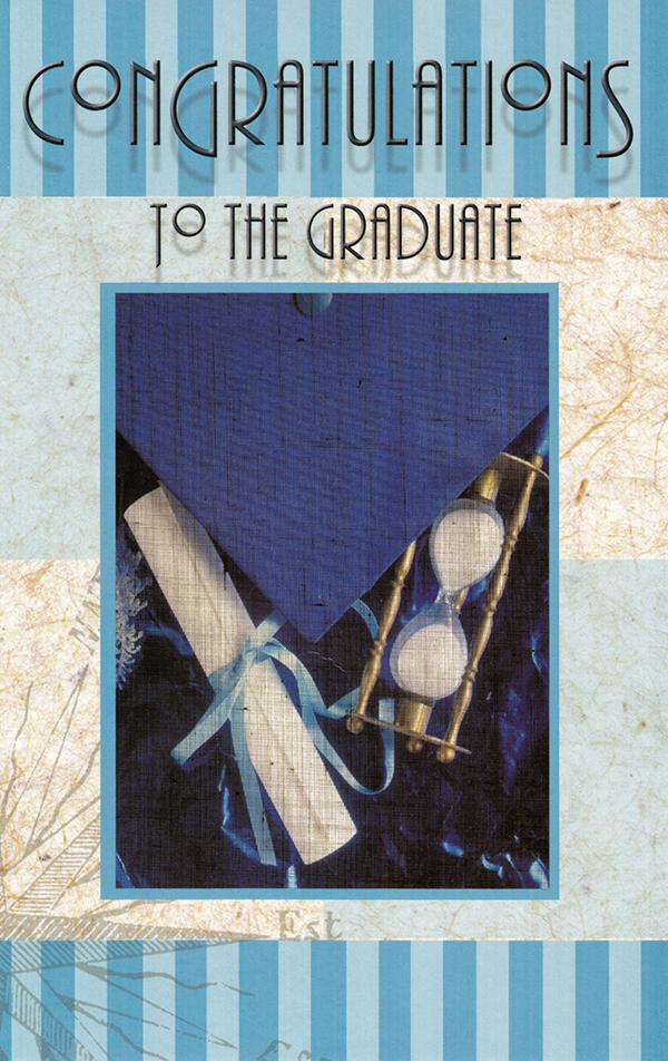 """Congratulations To The Graduate"" Graduation Greeting Card - Leilanis Attic"