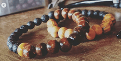Lava and Wood Diffuser Stretch Bracelet