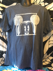 Mickey Window Men's Blue T-Shirt