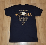 """Spreading Aloha"" Ladies Boyfriend Black Tee - Leilanis Attic"