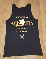 """Spreading Aloha"" Unisex Jersey Black Tank Top"