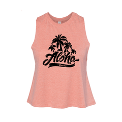 """Aloha"" Women's Coral Top - Leilanis Attic"