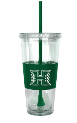 Hawaii Warriors 22oz Tumbler with Straw (Scratched) - Leilanis Attic