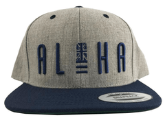 "Hawaiian Style ""Upright"" SnapBack Hat, Black or Gray"