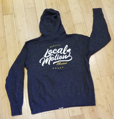 "Local Motion ""Quality Goods"" Zip Up, Charcoal, XL"