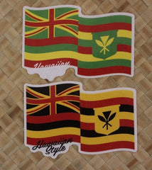 "Hawaiian Style ""2-Flag"" Sticker"