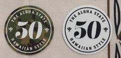 "Hawaiian Style ""Fifty State"" Sticker"