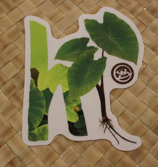 "Hawaiian Style ""Taro Grown"" Sticker"