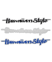 "Small Hawaiian Style ""Straight Up"" Logo Sticker"