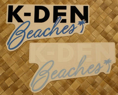 "Local Motion ""K-Den Beaches"" Decal Sticker"