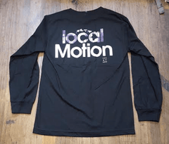 "Local Motion ""Sunday Tee"" Mens Longsleeve Black T-Shirt, Small"