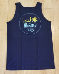 "Local Motion ""Flashback"" Mens Navy Blue Tank Top"