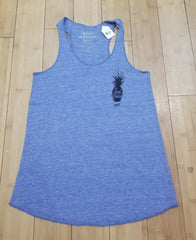 "Local Motion ""Prickly Pocket"" Jrs Pacific Blue Racer Back Tank"