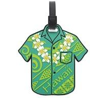 "Luggage Tag, ""Aloha Shirt"" (Green)"