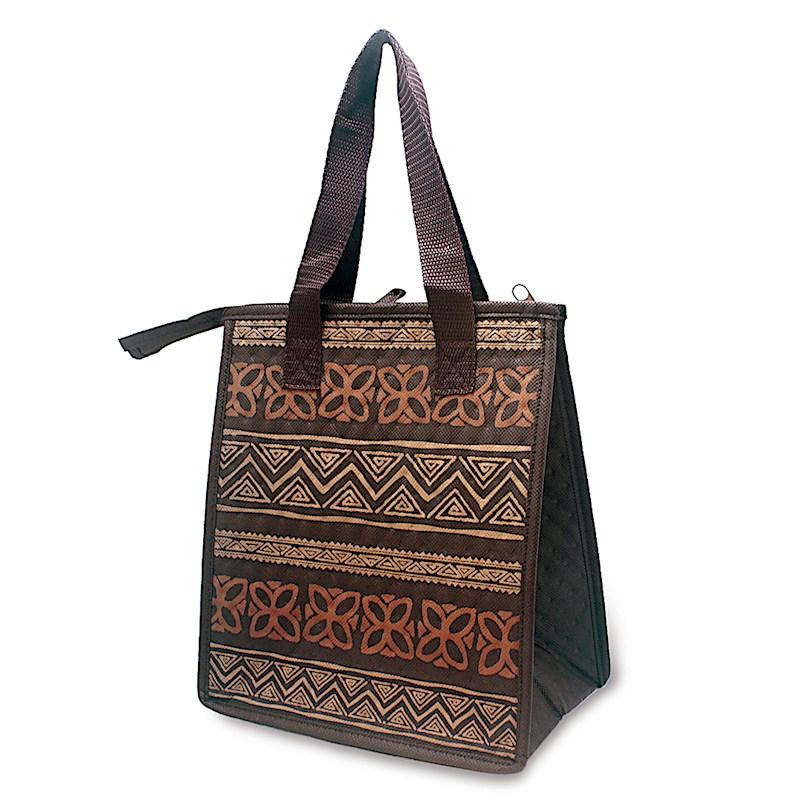 """Tapa Brown"" Insulated Cooler Bag, Small - Leilanis Attic"