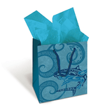 "Gift Bag ""Stamped With Aloha"", Mini - Leilanis Attic"