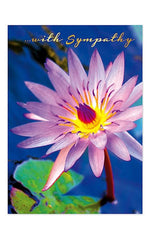 """Lotus Flower with Sympathy"" Greeting Card"