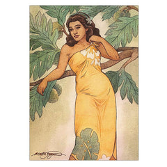 """Tropical Maiden"" Greeting Card"