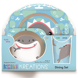 "Keiki Kreations ""Shark Bites"" Bamboo Fiber Dining Set - Leilanis Attic"