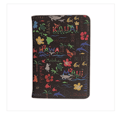 Passport Holder- Hawaiian Adventure Black
