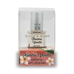 .22 OZ ISLAND BATH & BODY PERFUME PLUMERIA VANILLA - CONTEMPORARY - Leilanis Attic