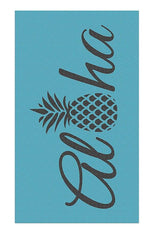 Aloha Pineapple, Beach Towel, Blue