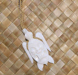 White Bone Tiki Honu Adjustable Necklace - Leilanis Attic