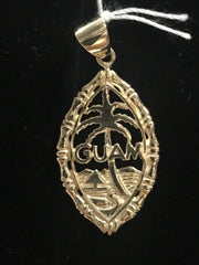 14kt Yellow Gold Guam Seal Pendant (Medium)