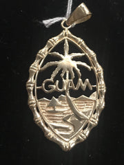 14kt Yellow Gold Guam Seal Pendant (Large)