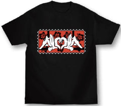 Aloha Mickey Mouse Hands, Disney Inspired Mens Black T-Shirt
