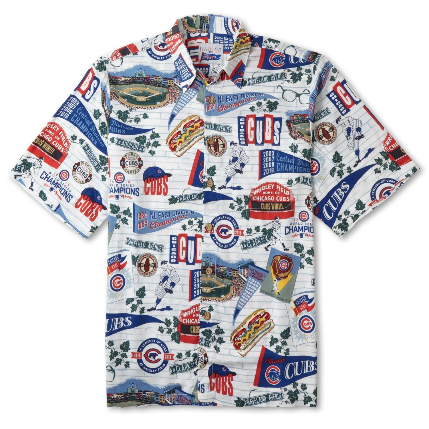 "Reyn Spooner ""Chicago Cubs Scenic"" Aloha Shirt - Leilanis Attic"