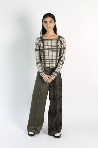 Plaid Air Trouser
