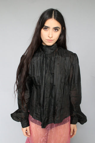 High-Neck Victorian Mourning Top