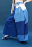 Denim Patchwork Thai Pants