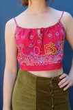 Embroidered Bandanna Top