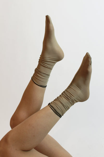 Tan & Toasted Rose Sock