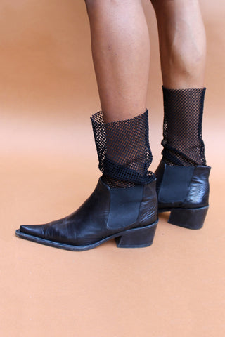 Italian Leather Knife-Point Booties