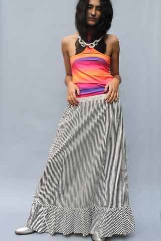 Striped Edwardian Maxi Skirt