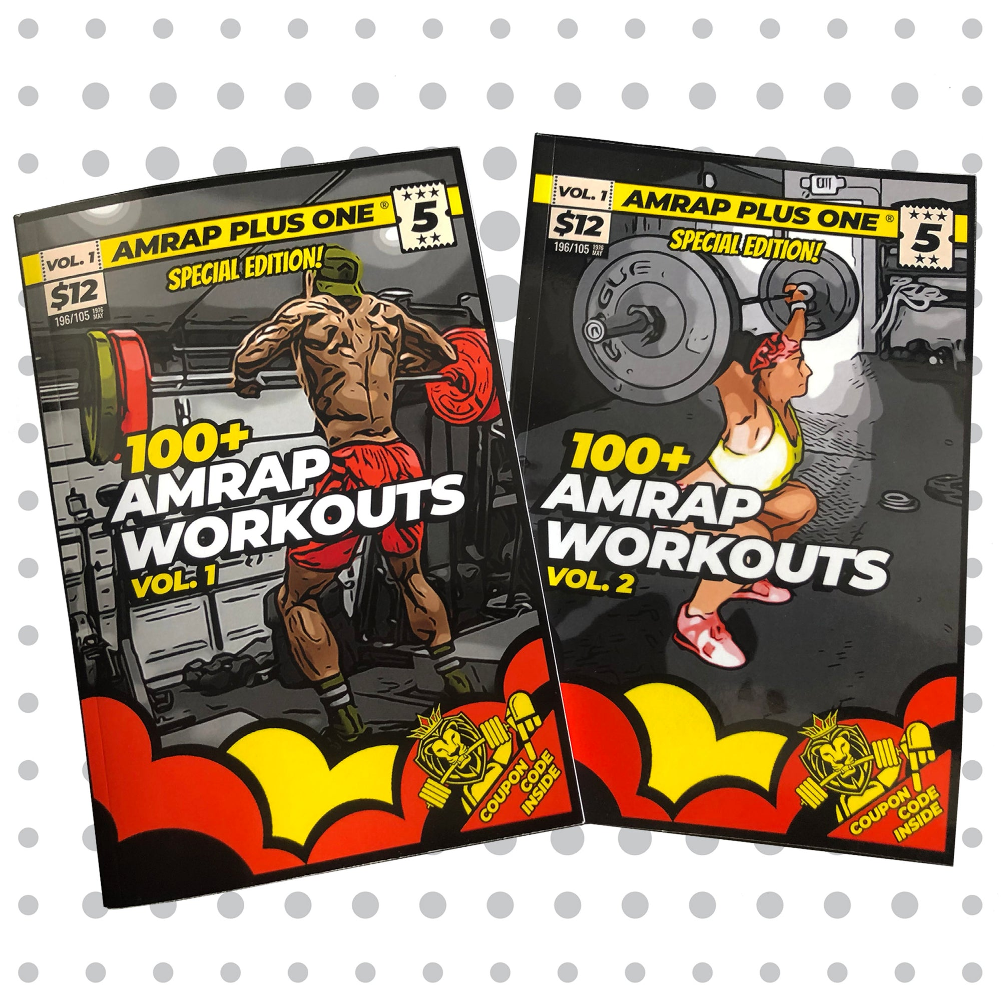 100+ AMRAP Workouts Vol.1 AND Vol. 2 *HARD COPIES - AMRAP Plus One